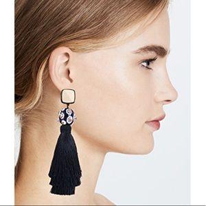 NWOT Tory Burch silk tassel clip on earrings